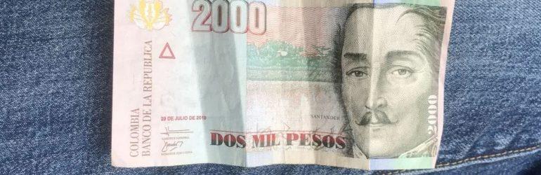 Колумбийский песо к доллару