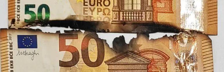 Обмен горелых евро