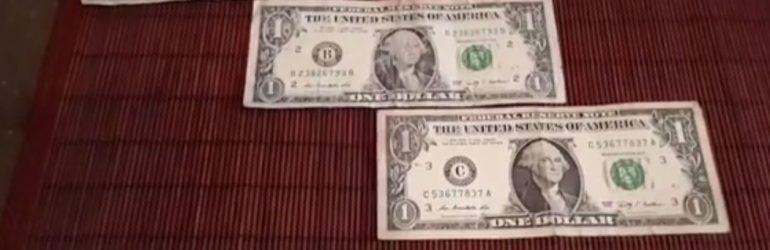 Обмен ветхих купюр долларов