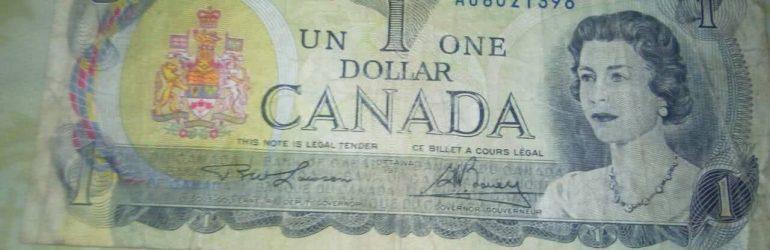 Старые канадский доллары