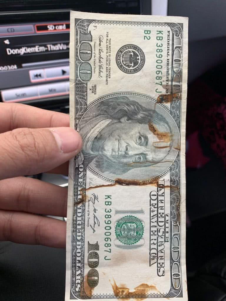 ржавая 100 баксов