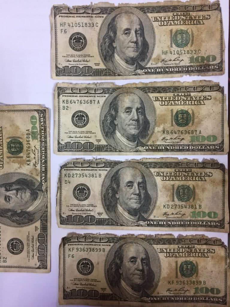 очень старые и уставшие 100 баксов америки, обмен