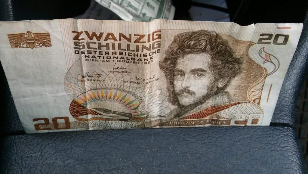 обмен австрийских шиллингов, купюра номиналам 20